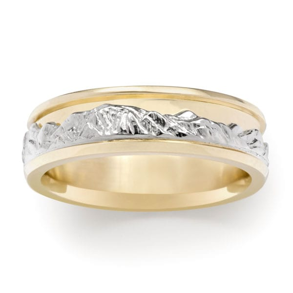 Boulder Peaks Range Ring®.  Standard version in 14kt. yellow and white gold