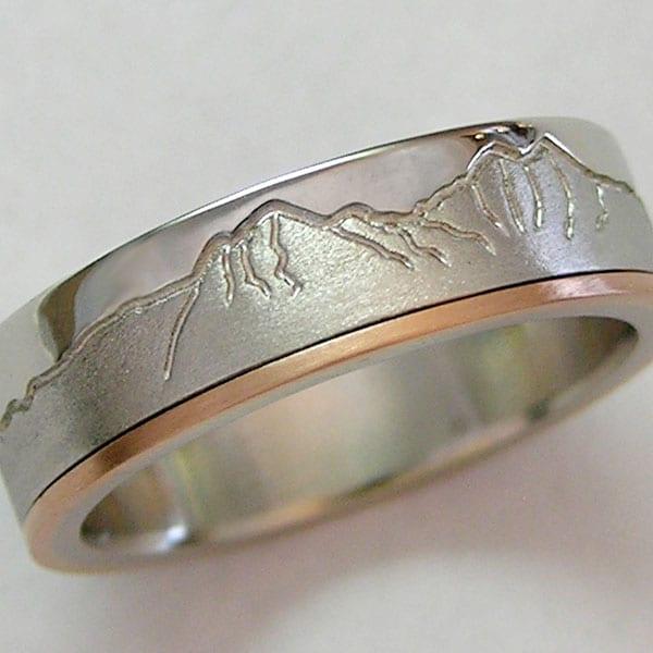 Boulder Mountain Ring Range Rings Cronin Jewelers