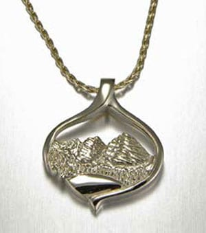 Mountain pendants boulder mountain jewelry cronin jewelers for Jewelry stores boulder co